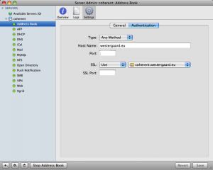 Address Book Authentication Settings