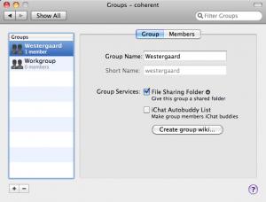 Server Preferences Groups