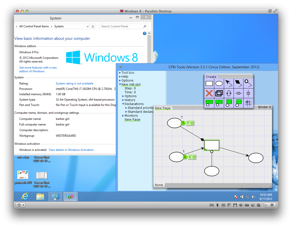 Windows 8 and CPN Tools, Declare, and ProM | Michael… of Doom!
